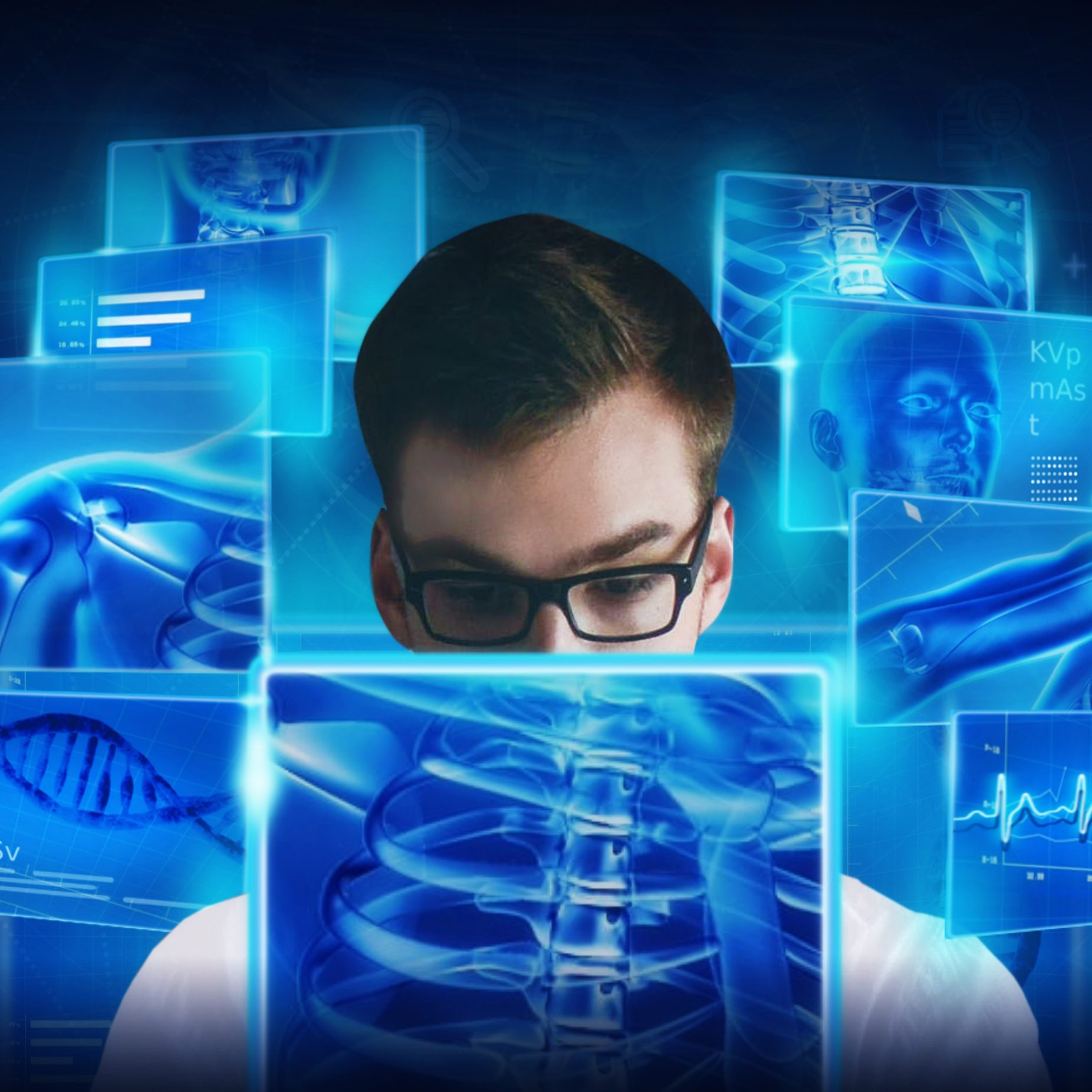 Medical Doctor Studying the Human Body - Concept