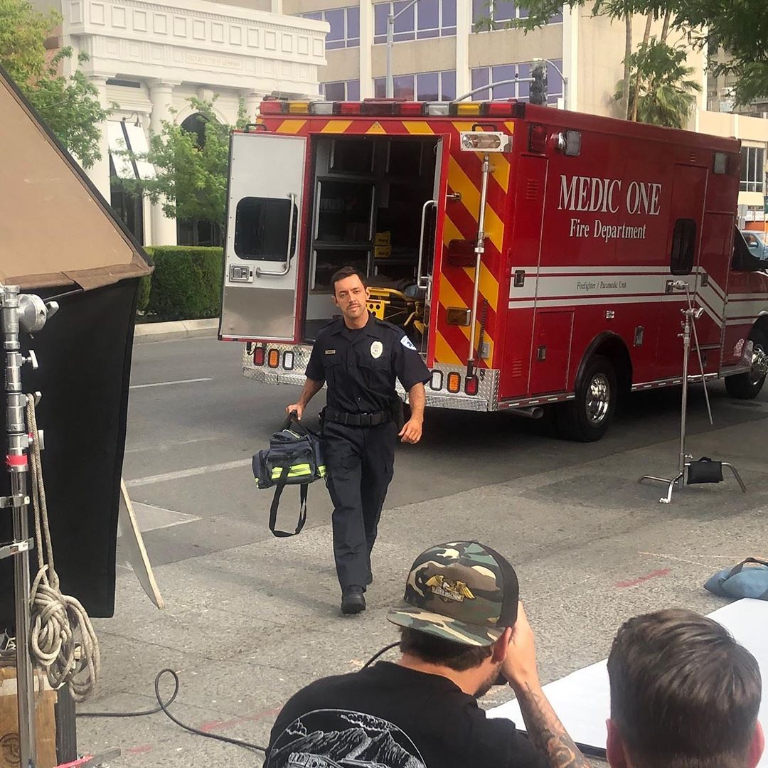 2-Michael-John-Benzaia—paramedic-on-set-for-ABC-network.-Photo-courtesy-of-author